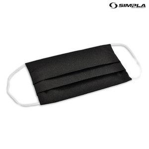 Zwart mondkapje wasbaar van Simpla